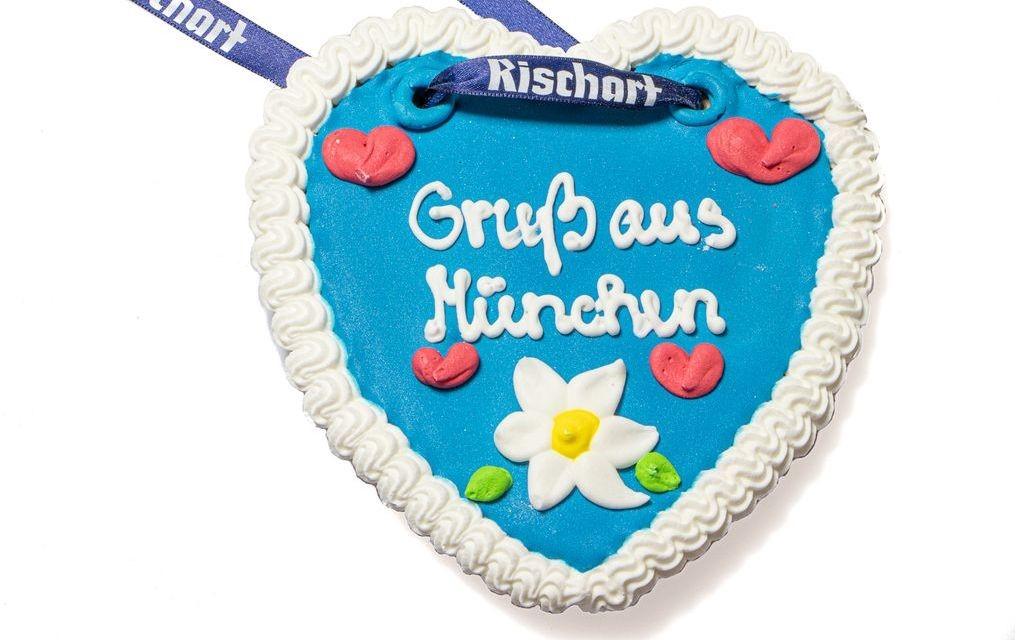 """Lebkuchenherz """"Gruß aus München"""""""