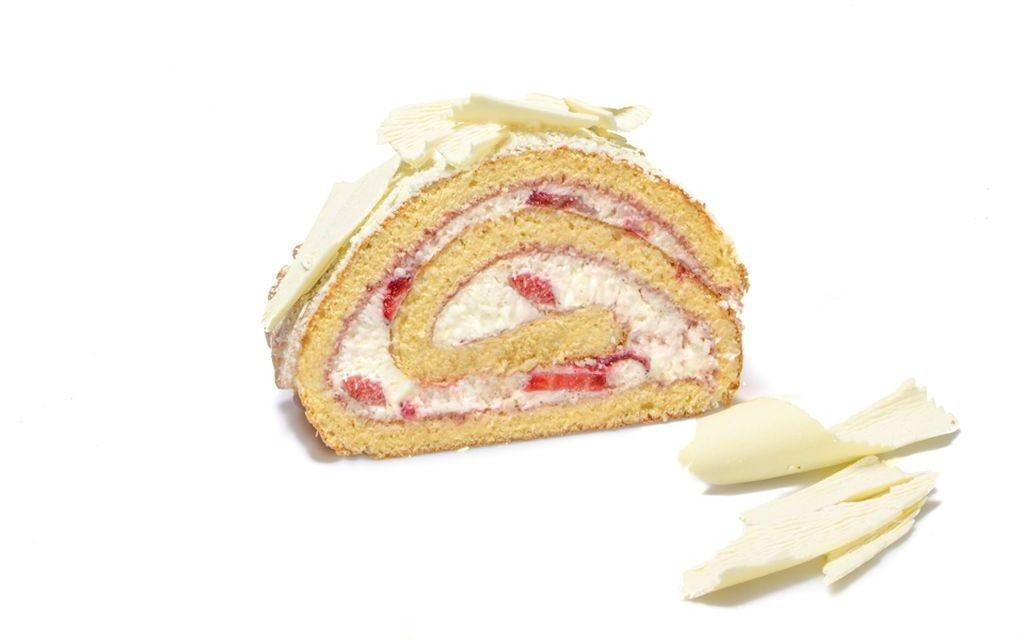 Erdbeer-Sahne-Roulade
