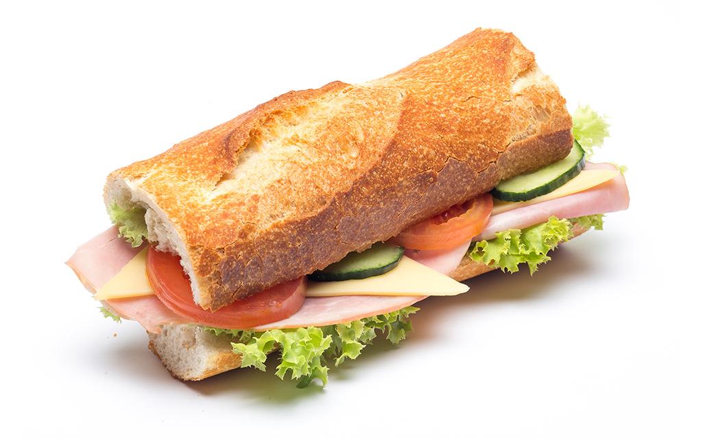 Schinken-Käse-Baguette