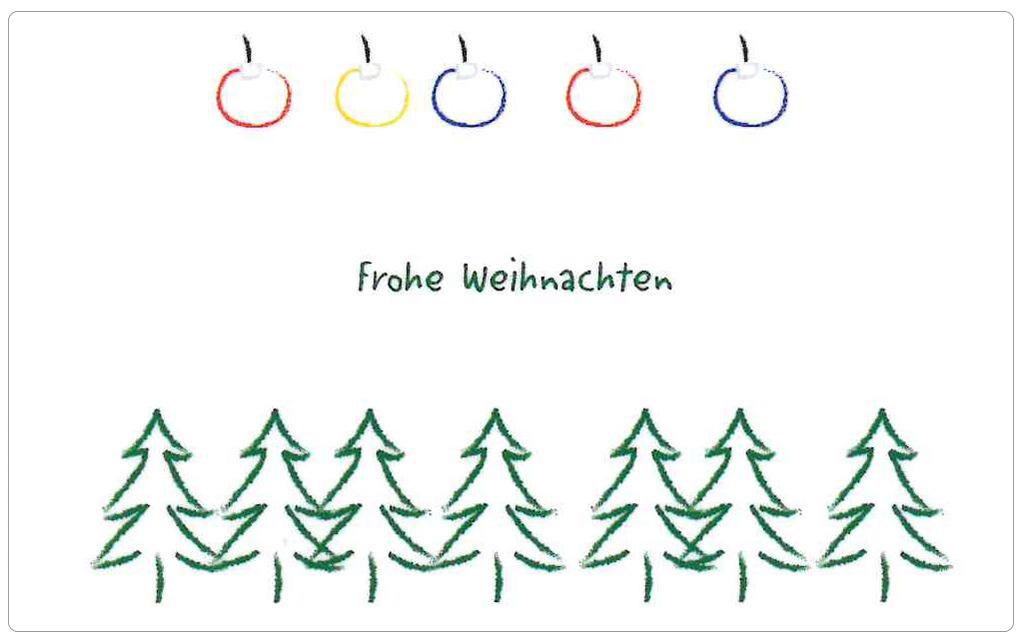 Gutscheinkarte Frohe Weihnachten